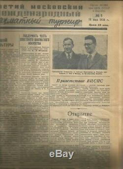 Magazine 64 Dames D'échecs Journal 1936 Troisième Moscou International D'échecs 1-20