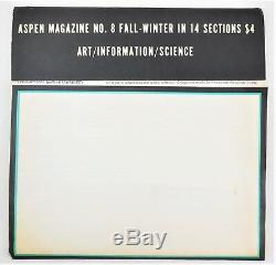 Magazine Aspen # 8 Le Numéro De Fluxus-1970 G. Maciunas, Glass, Jo Baer, steve Reich