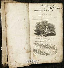 Magazine Freemason Et Le Général Varia Volume Ii, N ° 1-6. Octobre 1811