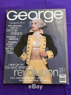 Magazine George Jfk Jr. 1 Er Numéro Oct-nov. 1995 -cindy Crawford Madonna Politique