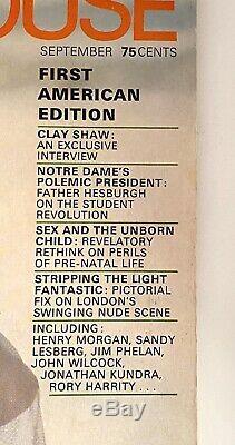 Magazine Septembre Penthouse 1969 Premier Édition Américaine # 1 Excellent État