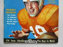 Magazine Texas Football Dave Campbell # 1 1960 Première Grande Édition Annuelle