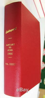 Magazines Autosport Bound Vol 32 XXXII Janvier À Juin 1966
