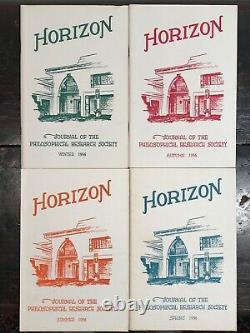 Manly P. Hall Horizon Journal Année Complète, 4 Numéros, 1956 Philosophie Occult