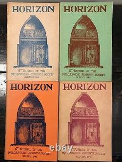 Manly P. Hall Horizon Journal Full Year, 4 Numéros, 1948 Philosophy Occult