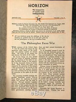 Manly P. Hall Journal Horizon Année Complète, 12 Numéros, 1942 Philosophie Occult