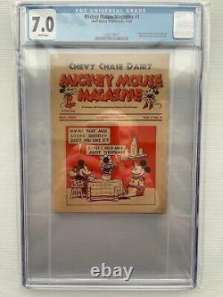 Mickey Mouse Magazine (dairy Giveaway) #1 1933 7,0 F-vf Cgc Rare Premier Numéro