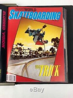 Mint Complète 1983 1984 1985 Transworld Magazines Skateboard Planche À Roulettes De Skate