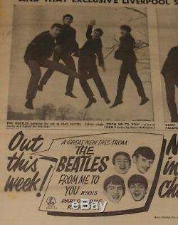 Miroir D'enregistrement 13 Avril 1963 Beatles Gerry Pacemakers Mersey Beat Gene Vincent