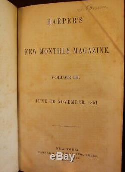Moby Dick Ou La Baleine Herman Melville Harper Magazine 1851 Première Édition