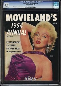 Movieland Annual Cgc Nm 9.4 La Magnifique Couverture De Marilyn Monroe! Single Le Plus Haut