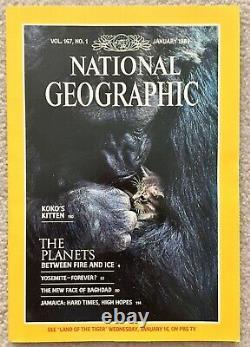National Geographic Juin 1985 Numéros Mensuels Avecsupp Like New Mint Condition