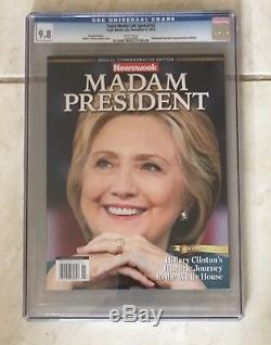 Newsweek Madame La Présidente Hillary Clinton / Donald Trump Ccg 9,8 Near Mint / Mint
