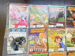 Nintendo Power 20 Magazine Lot #124 Avec Pokemon Pikachu E3 Card
