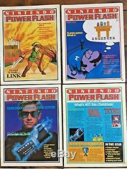 Nintendo Power Flash Magazines 1988-90, Numéros 1 À 7 + 9 + Lettre Rédacteur En Chef