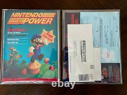 Nintendo Power Issue #1 Avec Lettre Rare, Sticker, Inserts Like New