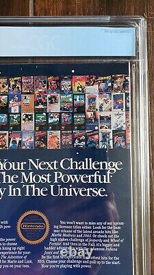 Nintendo Power Juillet / Août 1988 1er Numéro Cgc Classé 8,5 Blanc (seulement 8 Plus Élevé!)