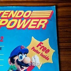 Nintendo Power Magazine Complète Poster Inserts Super Mario 2 Juillet Août 1988