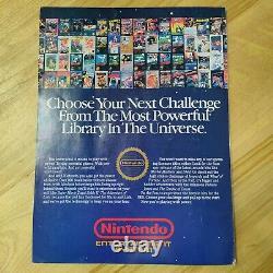 Nintendo Power Magazine Issue 1 Juillet/août 1988 Super Mario 2 Contra Zelda Carte