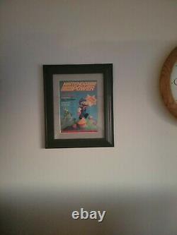 Nintendo Power Video Game Magazine 1er Premier Numéro Professionnellement Encadré Mario