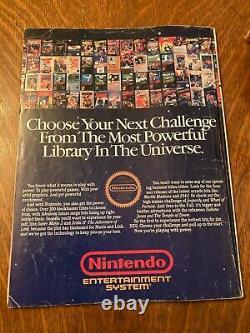 Nintendo Power Vol. 1 Juillet/août 1988 Super Mario 2 Zelda Map Poster, Complet