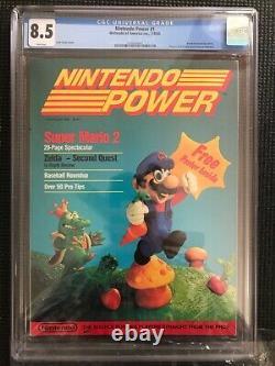 Nintendo Power Volume 1 Cgc 8.5 Juillet/août 1988 Affiche Gratuite À L'intérieur