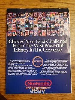 Nintendo Puissance Vol. 1 Premier Numéro Juillet / Août 1988 Super Mario 2 Plan Intact