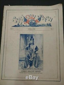 No. 1 Rare Signé, Vol. 1 Le Magazine Amérindien Octobre 1926 + Mai 1928