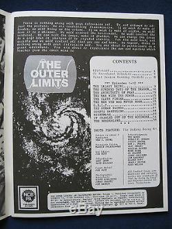 Original 2 Vol. Complete De Outer Limits Illustrées Examen Fan Magazine