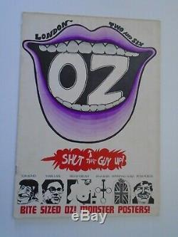 Oz Magazine # 2 Avec Insert De Souscription Et Martin Affiche De Sharp