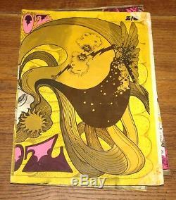 Oz Magazine Numéro 4 Juin 1967 # Hapshash Or Encre Poster Couverture No Magazine