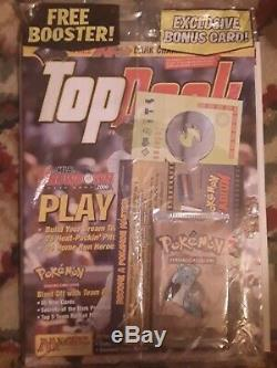Pack Pokemon Booster Fossil 1ère Édition Avec Le Magazine Top Deck Sealed Wrap Shrink