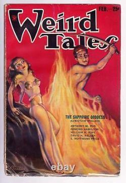 Pâte Weird Tales Février 1934 Robert E. Howard Valley Of The Worm Vg/f