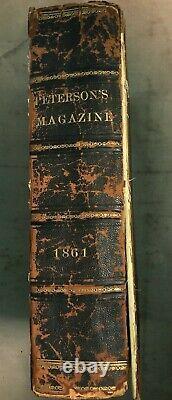 Peterson's Magazine Jan-dec. 1861, 12 Plaques De Mode Couleur