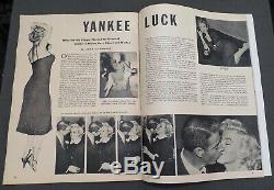 Pic Magazine Rare Marilyn Monroe Cover! Plus Haut Grade 1954