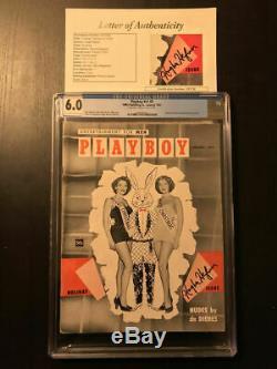 Playboy Décembre 1953 Et Janvier 1954 Jsa Signé Par Hugh Hefner Cgc Graduées Sets