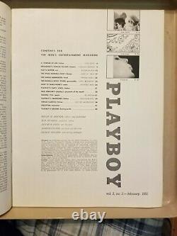 Playboy Février 1955 Très Bon État Livraison Gratuite USA