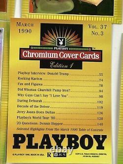 Playboy Magazine Chromium Celebrity Redemption Refractors Set 1-3 Donald Trump