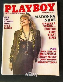 Playboy Magazine-septembre 1985. Dernière Édition Agrafé. Pièce De Collection