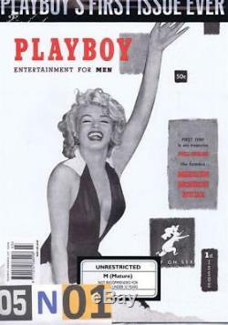Playboy Rare 1ère Édition Jamais Réimprimée Marilyn Monroe 1953 Toute Nouvelle Usine Scellée