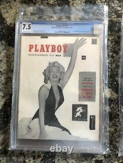 Playboy V1 #1 Cgc 7.5 Marilyn Monroe Cover, Top 20 Pop Dans Le Monde! + Suppléments