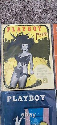 Playboy's Magazines 1954 Ensemble D'année Complète, Très Bon État, All Center Polds