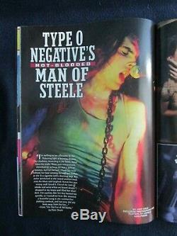 Playgirl Magazine Rare Vintage Août 1995 Peter Steele Type O Negative Nu