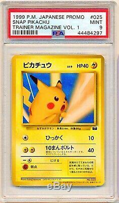 Pokemon Psa 9 Snap Pikachu Entraîneur Magazine Vol. 1 025 1999 Japonaise Promo