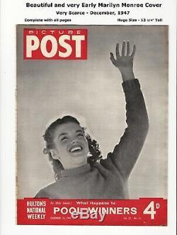 Post Image 1947 Très Tôt Marilyn Monroe Couverture Par André De Dienes