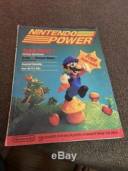 Premier Numéro Nintendo Power Vol. ? 1 Juillet / Août 1988 Super Mario 2 Zelda Affiche De Carte