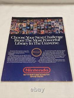 Premier Numéro Nintendo Power Vol. 1 Juillet/août 1988 Super Mario 2 Avec Poster Mailer
