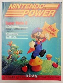 Premier Numéro Nintendo Power Vol 1 Super Mario 2 Avec Zelda Carte / Affiche Insérer