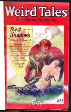 Pulp Weird Tales Août 1928 Robert E. Howard, Tennessee Williams 1ère Histoire