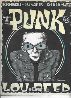 Punk Magazine # 1 1976 Lou Reed 1ère Édition Punk Magazine